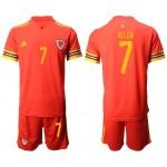 2020 European Cup Wales Allen #7 Red Jersey