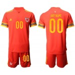2020 European Cup Wales Any Name Red Jersey