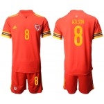 2020 European Cup Wales Wilson #8 Red Jersey