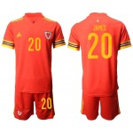2020 European Cup Wales James #20 Red Jersey
