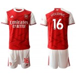 20-21 Arsenal #16 Rob Holding Red Home Soccer Jersey