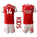 20-21 Youth Arsenal #14 Pierre-Emerick Aubameyang Red Home Soccer Jersey