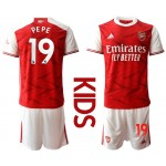 20-21 Youth Arsenal #19 Nicolas Pepe Red Home Soccer Jersey