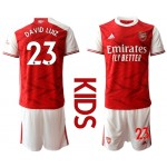 20-21 Youth Arsenal #23 David Luiz Red Home Soccer Jersey