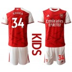 20-21 Youth Arsenal #34 Granit Xhaka Red Home Soccer Jersey