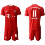 20-21 FC Bayern Munchen Cuisance #11 Red Home Soccer Jersey