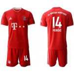 20-21 FC Bayern Munchen Perisic #14 Red Home Soccer Jersey