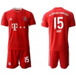 20-21 FC Bayern Munchen Arp #15 Red Home Soccer Jersey