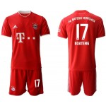 20-21 FC Bayern Munchen Boateng #17 Red Home Soccer Jersey