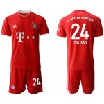 20-21 FC Bayern Munchen Tolisso #24 Red Home Soccer Jersey