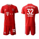 20-21 FC Bayern Munchen Kimmich #32 Red Home Soccer Jersey