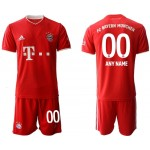 20-21 FC Bayern Munchen Any Name Red Home Soccer Jersey