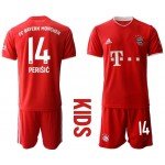 20-21 Youth FC Bayern Munchen #14 Ivan Perisic Red Home Soccer Jersey