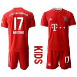 20-21 Youth FC Bayern Munchen #17 Jerome Boateng Red Home Soccer Jersey