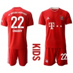 20-21 Youth FC Bayern Munchen #22 Serge Gnabry Red Home Soccer Jersey