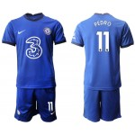 20-21 Chelsea #11 Pedro Blue Home Soccer Jersey