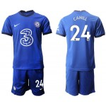 20-21 Chelsea #24 Gary Cahill Blue Home Soccer Jersey