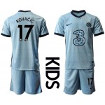 20-21 Youth Chelsea #17 Mateo Kovacic Light Blue Away Soccer Jersey
