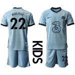 20-21 Youth Chelsea #22 Christian Pulisic Light Blue Away Soccer Jersey