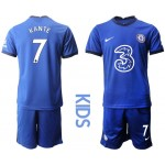 20-21 Youth Chelsea #7 Kante Blue Home Soccer Jersey