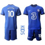 20-21 Youth Chelsea #10 Willian Blue Home Soccer Jersey