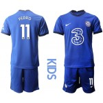 20-21 Youth Chelsea #11 Pedro Blue Home Soccer Jersey