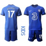 20-21 Youth Chelsea #17 Mateo Kovacic Blue Home Soccer Jersey