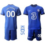 20-21 Youth Chelsea Any Name Blue Home Customized Soccer Jersey