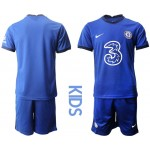 20-21 Youth Chelsea Blank Blue Home Soccer Jersey