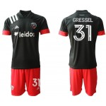 20-21 D.C. United Gressel #31 Black Jesery