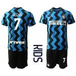 20-21 Youth FC Internazionale Milano #7 Alexis Blue Home Soccer jersey
