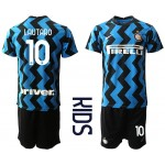 20-21 Youth FC Internazionale Milano #10 Lautaro Blue Home Soccer jersey