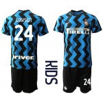 20-21 Youth FC Internazionale Milano #24 Christian Eriksen Blue Home Soccer jersey