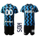 20-21 Youth FC Internazionale Milano Any Name blue Home Soccer jersey
