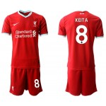 20-21 Liverpool #8 Naby Keita Red Home Soccer Jersey