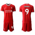 20-21 Liverpool #9 Roberto Firmino Red Home Soccer Jersey