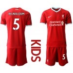 20-21 Youth Liverpool #5 Wijnaldum Red Home Soccer Jersey
