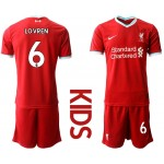 20-21 Youth Liverpool #6 Dejan Lovren Red Home Soccer Jersey