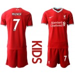20-21 Youth Liverpool #7 James Milner Red Home Soccer Jersey