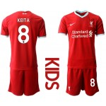 20-21 Youth Liverpool #8 Naby Keita Red Home Soccer Jersey