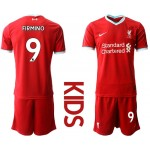 20-21 Youth Liverpool #9 Roberto Firmino Red Home Soccer Jersey