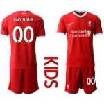 20-21 Youth Liverpool Any Name Red Home Customized  Soccer Jersey