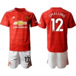 20-21 Manchester United #12 Chris Smalling Red Home Soccer Jersey