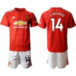 20-21 Manchester United #14 Jesse Lingard Red Home Soccer Jersey