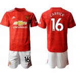20-21 Manchester United #16 Michael Carrick Red Home Soccer Jersey
