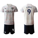 20-21 Manchester City #9 Gabriel Jesus White Away Soccer Jersey