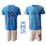 20-21 Youth Manchester City #19 Leroy Sane Blue Home Soccer Jersey