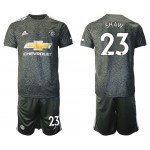 20-21 Manchester United #23 Shaw Black Away Soccer Jersey