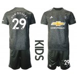 20-21 Youth Manchester United #29 Wan-Bissaka Black Away Soccer Jersey