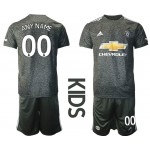 20-21 Youth Manchester United Any Name Black Away Soccer Customized Jersey